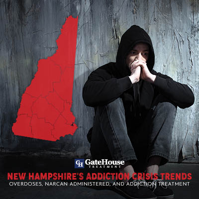 addiction crisis New Hampshire's Addiction Crisis Trends: Overdoses, Narcan Administered, and Addiction Treatment Broken Down by Individual Counties 1